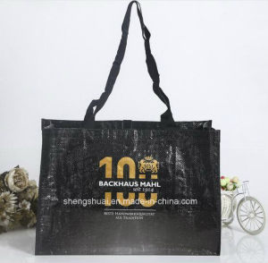 Excellent PP Woven Fashion Shopping Bag with Black Color