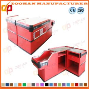Metal Supermarket Shop Store Cashier Checkstand Table Checkout Counter (Zhc31) pictures & photos