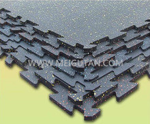 Colourful Indoor & Outdoor Commercial Rubber Flooring Rubber Tile