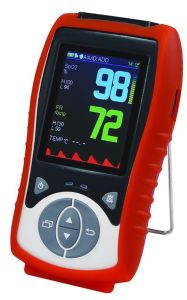 Handheld Pulse Oximeter with Visual and Sound Alarm Function pictures & photos