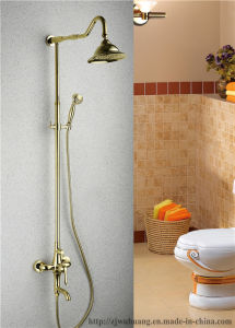 Golden Plated Bathroom Bath Faucet (MG-7376) pictures & photos