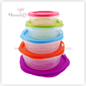5pack Bento Lunch Box, Microwave Safe Plastic Storage Food Container pictures & photos
