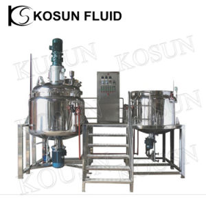 Stainless Detergent Shampoo Cosmetic Double Jacket Mixing Tank pictures & photos