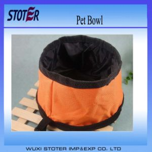 Sturdy Waterproof 600d Oxford Sewing Foldable Portable Outdoor Pet Traveling Food Bowl pictures & photos
