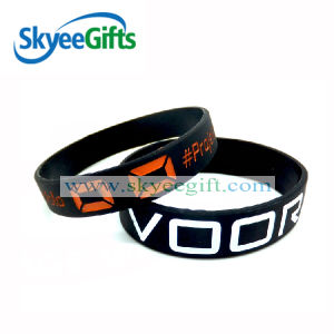 Advertising Campaign Debossed or Embossed Silicone Braclets pictures & photos
