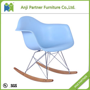 Nice Look Red Good Quality PP Plastic Dining chair with Rocking Feet (John) pictures & photos