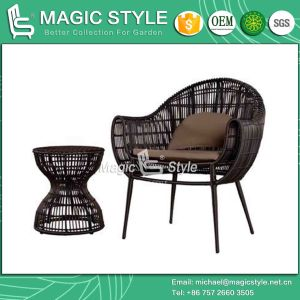 New Design Rattan Wicker Chair Leisure Chair Outdoor Furniture Patio Chair Balcony Chair Coffee Set Classical Furniture (Magic Style) pictures & photos