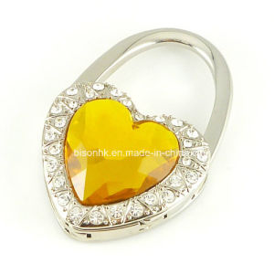 Heart-Shaped Diamond Purse Hook for Wedding Gifts pictures & photos