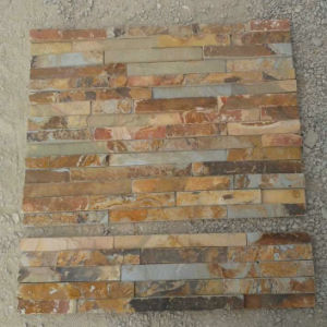 China Rusty Yellow Slate for Wall Cladding pictures & photos