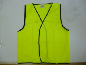 Class D High Visibility Vest Without Reflective Tape pictures & photos