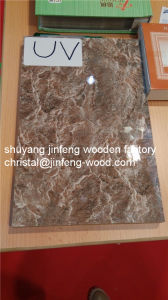 1220*2440mm Wood Grain/Marble /Warm White High Glossy UV MDF pictures & photos