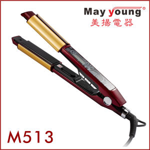 Fashion and Large LCD Design 2 in 1 Hair Flat Iron pictures & photos