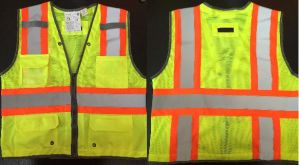 Orange Safety Vest with 4 Pockets, Meet En471 pictures & photos