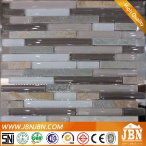 Strip Mosaic, Rock Stone and Glass for Wall (M855092) pictures & photos
