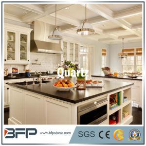 Hot Sale White/Black Color Quartz for Kitchen Countertop pictures & photos