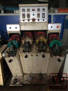 Shoe Heel or Backpart Moulding Machine 2 Hot and 2 Cold Moulding Machine pictures & photos