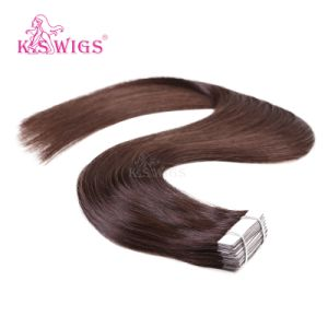 K. S Wigs New Arrival Best Quality Tape Hair Brazilian Hair Human Hair Extension pictures & photos