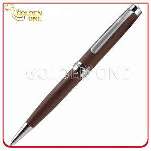 Metal Ballpoint Pen with Leather Decoration Wrapping for Promotion Gift pictures & photos