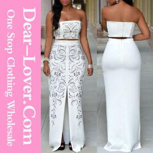 Fashion Women White Bridal Wedding Gown Bridesmaid Dress pictures & photos