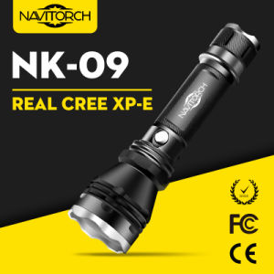 Aluminum Rechargeable LED Torch Flashlight with Real CREE LED