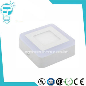 9W Square Blue/ White Color Double Color LED Panel Light pictures & photos
