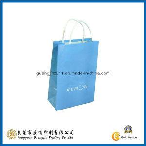 Simple Blue Kraft Paper Carrier Bag (GJ-Bag729) pictures & photos