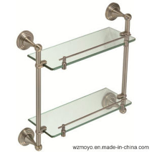 Double Glass Shelves in Bronze Finish pictures & photos