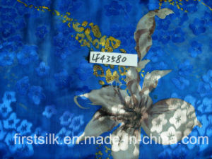 Silk/Rayon Burn out Satin Fabric (LFM43067) pictures & photos