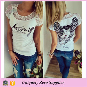 2016 Latest Women Polyester Individuality T-Shirts pictures & photos