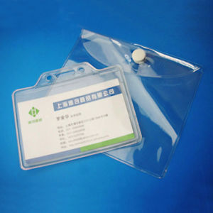 Custom Mini Clear PVC Plastic Card Bag with Button pictures & photos