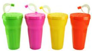 Straw PP Cup Straw Bottle Suctioncup Plastic Cup pictures & photos