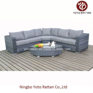 Grey Rattan Sofa Set for Outdoor (1503) pictures & photos