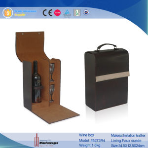 Single Bottle Promotional Gift Wine Box with Glasses (5272R4) pictures & photos