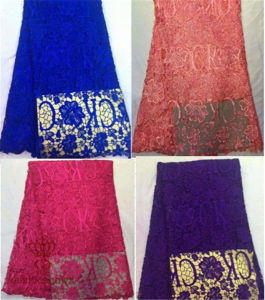 120 * 300cm of Spiraea Polyester Lace Wedding Dress Fabric pictures & photos