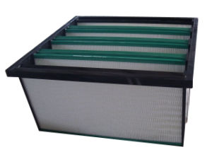 Industrial V Bank Compact Dust Air Filter pictures & photos