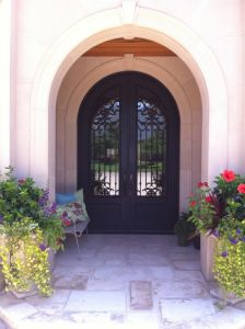Popular Main Wrought Iron Exterior Door Position Double Designs (UID-D138) pictures & photos