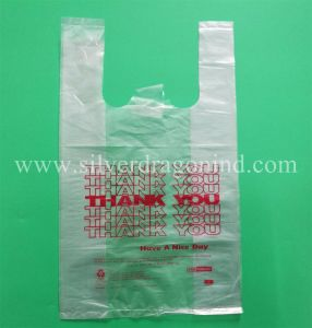 Custom Reusable Eco-Friendly Plastic T-Shirt Shopping Bags pictures & photos