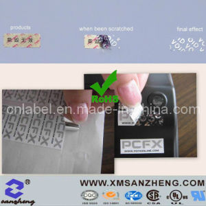 Custom PET Translucent Glossy Sticky UV Resistant Void Security Stickers pictures & photos