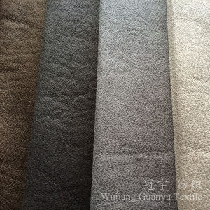 Compound Leather Suede Micorfiber Shammy with Bronzing Process pictures & photos