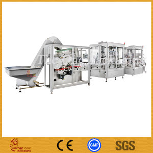 Fully Automatic Filling Line for Cream, Ointment, Sauce, Paste, High Viscosity Liquid pictures & photos