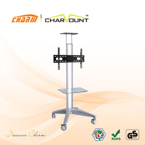 Aluminum TV Trolley Furniture with Wheels, Removable TV Trolley Designs (CT-FTVS-T101) pictures & photos