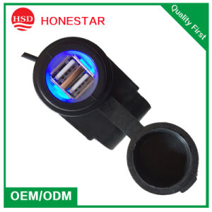 Dual USB Port 5V 3.1A Waterproof Motorcycle Mobile Charger pictures & photos
