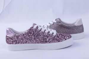 Vulcanized Shoes Rubber Outsole Glitter Fashion Bz1633 pictures & photos