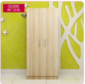 2 Doors Melamine Wardrobe Cabinet pictures & photos