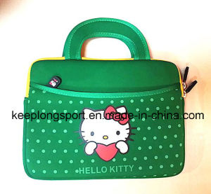 Fashionable Hello Kitty Printing Neoprene Laptop Bag with Handle pictures & photos