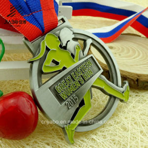 New Design Cut out Alloy Casting Custom Women Running Medals with Ribbon pictures & photos