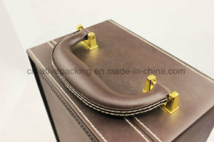 Wholesale Portable PU Leather Packaging Wine Box pictures & photos