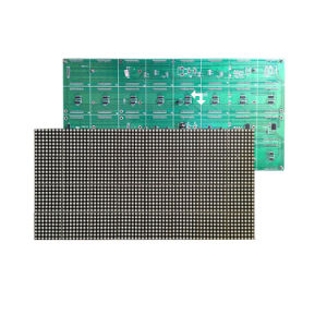 F5.0 P7.62 Red LED Sign Lattice Module 64X32 Pixels 1/16 Scan 488X244mm Hub08 High Resolution Board pictures & photos