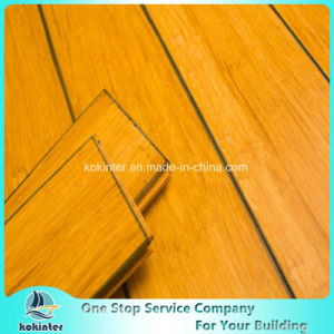 Chinese Cheapest High Quality Indoor Usage Carbonized Strand Woven Bamboo Flooring with Blue Edges pictures & photos