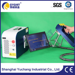 Portable Handheld Laser Marking Machine Printing on Rubber Tires pictures & photos